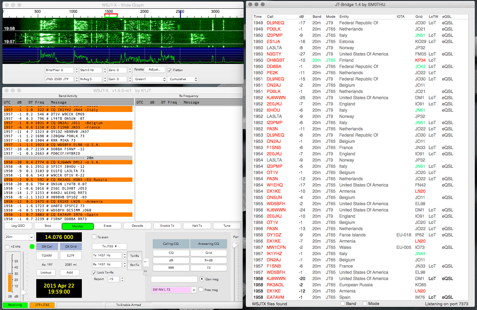 JT-Bridge – WSJT-X enhancement for OS X