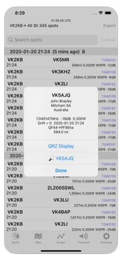WSPR Watch for IOS version 3.19 released